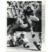 1978 Press Photo Chiefs Horace Belton vs Buccaneers Richard Wood - net14457