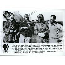 1990 Press Photo Air Racers Erik Nelson, Lowell Smith, Jack Hardin, Les Arnold