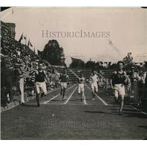 1919 Press Photo End of 50 yard dash at Central High School - net12480