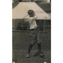 1919 Press Photo Youngster Happy Tobin on a golf course - net15614