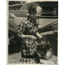 1964 Press Photo Nona Plammdon of Lake Oswego Pilot & Wing Walker - ora70144