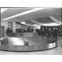 1965 Press Photo Baggage claim area Spokane International Airport Terminal