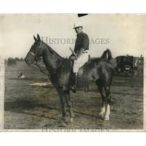 1925 Press Photo Malcomb Stevenson on plol pony at Monte Waterbury cup
