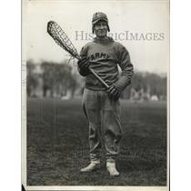 1929 Press Photo SH Ayre captain of US Military Academy lacrosse team in NY