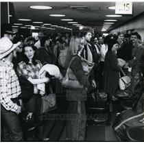 Press Photo Terminal interiors at Spokane International Airport - spa22230