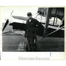 1980 Press Photo Bud Stangel, One of the Last Working Bush Pilots in Oregon