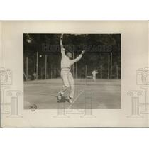 1919 Press Photo Captain Willoughby Jennings US tennis at Stade Francais