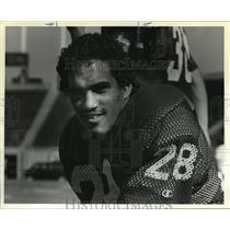 1983 Press Photo Steve Brown picked by the Houston Oilers in the 3rd round