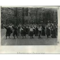 1906 Press Photo Physical Culture Class at Chautauqua, July 1906 - orc17325