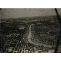 1930 Press Photo Aerial view of Indianapolis Speedway for the Indy 500