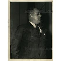1936 Press Photo R. Burnside Tells Committee Toledo Union Paid by the Pinkertons
