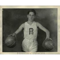 1927 Press Photo Eric Gandruo Rocky River Ohio basketball - net17053