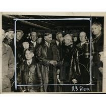 1927 Press Photo Governor William H. Adams, Mayor C.C. Adams at Moffat Tunnel