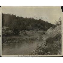 1916 Press Photo Pine River Dells, Trout Stream, Wisconsin - mjx07935