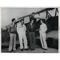 "1933 Press Photo 5 Students with Last Name ""Smith"" at Boeing Aeronautics School"