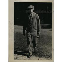 1934 Press Photo Joseph Driscoll Vacationing in Pinehurst North Carolina
