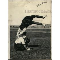 1924 Press Photo Marion Muller lady gymnast at Celtic Park New York - net17922