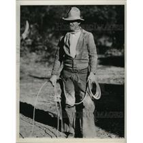 """1934 Press Photo Cowboy Will Rogers in """"Mr. Skitch"""" - ney15579"""