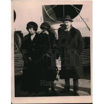 1919 Press Photo Italian Ambassador Avezzano & Family - ney15112