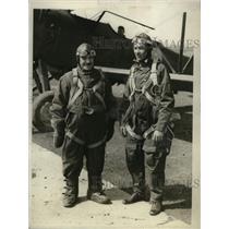 1930 Press Photo Chile Ambassador Carlos C. Davila, Pilot Bushrod Hoppin