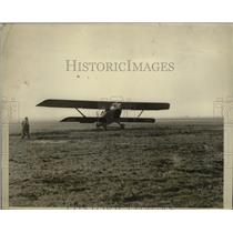1929 Press Photo Biplane Nungesser-Coli arrived at Mitchell Field Long Island