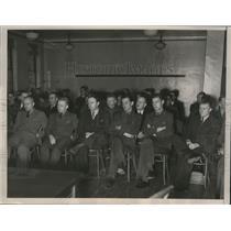 1937 Press Photo Airline Pilots at Oakland Transport Plane Crash Inquiry