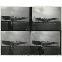 1950 Press Photo Hangar with Wings at Los Angeles International Airport