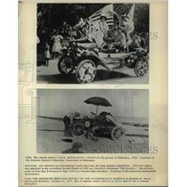 "1903 Press Photo Historic Model T Ford and Packard christened ""Old Pacific"""