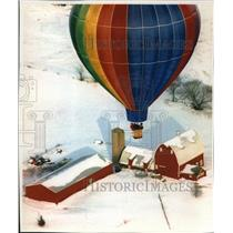 1994 Press Photo Lynn Huppert of Ellsworth & friends taking a balloon ride