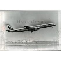 1966 Press Photo Douglas DC-8 Super 61 on its maiden flight - mja01467
