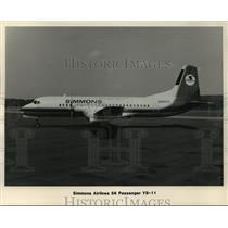 1984 Press Photo Simmons Airlines 56 Passenger YS-11 - mja01510