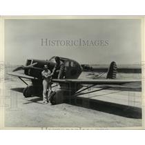 """1935 Press Photo Projected """"AV-8"""", two-place enclosed monoplane - mja01597"""