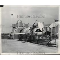 1954 Press Photo The sound of careful pre-flight operations, the last production