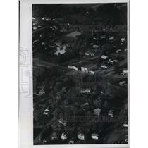 1972 Press Photo Aerial view of Watersmeet, Michigan - mja04281