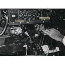 1969 Press Photo Look of the big jet's twin INS console - mja08886