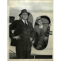 1940 Press Photo Walter Beech, President Beech Aircraft, Pilot H.C. Rankin