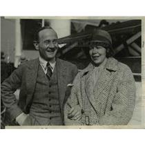 1929 Press Photo Captain Einar Lundberg & his wife arrive in New York