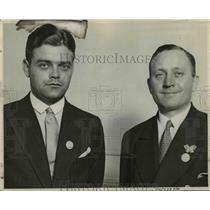 1929 Press Photo Pilot Hugo Kaulen & millionaire Fritz Ebner - nef03877