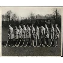 1929 Press Photo Bryn Mawr field hockey Hirschberg, M Collier,E Thomas
