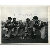 1943 Press Photo St George HS football & coach Max Burnell, Marty Wendell
