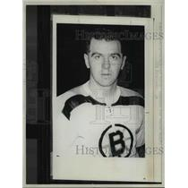 1966 Press Photo Boston Bruins coach and general manager Harry Sinden