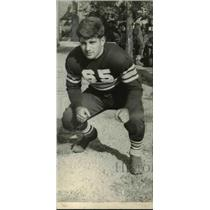 1937 Press Photo Captain Ernest Carli Alliance High school football - net05640