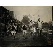 1922 Press Photo Finish of 100 yard open of the American Legion track meet