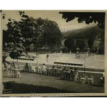 1922 Press Photo scene from the Fall Tennis Tournament in Hot Springs, VA