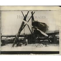 "1928 Press Photo ""Bremen"" Plane on Greenly Island, Canada - ney19363"
