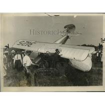 1927 Press Photo William Mitchell Crashes in Billingsley Field, New York