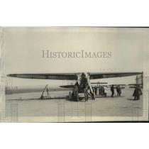 "1928 Press Photo Plane ""France"" of Louis Coudouret, de Mailly-Nesle @ Le Bourget"