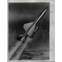 1957 Press Photo Boeing CIM-10 Bomarc Plane - nef13919