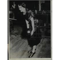 1934 Press Photo Mrs. Marie Clemensen Set A World Record For Bowling - net19877