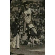 1920 Press Photo Track star Charles Way in broad jump event at a meet